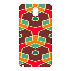 Distorted Shapes In Retro Colors			samsung Galaxy Note 3 N9005 Hardshell Back Case by LalyLauraFLM