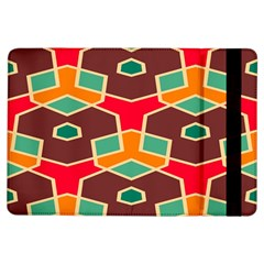 Distorted Shapes In Retro Colors			apple Ipad Air Flip Case by LalyLauraFLM