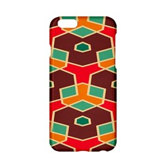 Distorted Shapes In Retro Colors			apple Iphone 6/6s Hardshell Case by LalyLauraFLM