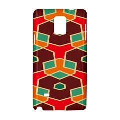 Distorted Shapes In Retro Colors			samsung Galaxy Note 4 Hardshell Case by LalyLauraFLM