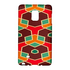 Distorted Shapes In Retro Colorssamsung Galaxy Note Edge Hardshell Case by LalyLauraFLM