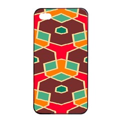 Distorted Shapes In Retro Colors			apple Iphone 4/4s Seamless Case (black) by LalyLauraFLM