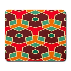Distorted Shapes In Retro Colorslarge Mousepad by LalyLauraFLM