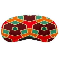 Distorted Shapes In Retro Colorssleeping Mask by LalyLauraFLM