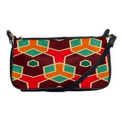 Distorted Shapes In Retro Colors			shoulder Clutch Bag by LalyLauraFLM