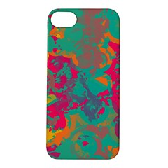 Fading Circles			apple Iphone 5s Hardshell Case by LalyLauraFLM