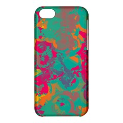Fading Circles			apple Iphone 5c Hardshell Case by LalyLauraFLM
