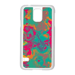 Fading Circlessamsung Galaxy S5 Case (white) by LalyLauraFLM