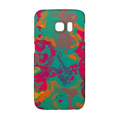 Fading Circles			samsung Galaxy S6 Edge Hardshell Case by LalyLauraFLM