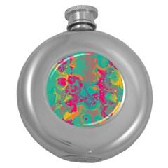 Fading Circleship Flask (5 Oz) by LalyLauraFLM