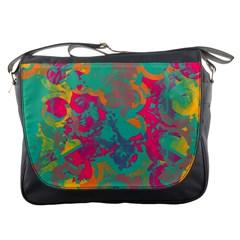 Fading Circlesmessenger Bag by LalyLauraFLM