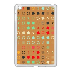 Squares On A Brown Background			apple Ipad Mini Case (white) by LalyLauraFLM