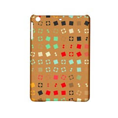 Squares on a brown backgroundApple iPad Mini 2 Hardshell Case by LalyLauraFLM