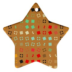 Squares On A Brown Background			ornament (star) by LalyLauraFLM