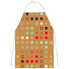 Squares On A Brown Background			full Print Apron by LalyLauraFLM