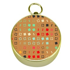 Squares On A Brown Background			gold Compass by LalyLauraFLM