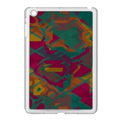 Geometric Shapes In Retro Colors			apple Ipad Mini Case (white) by LalyLauraFLM