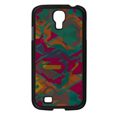 Geometric Shapes In Retro Colors			samsung Galaxy S4 I9500/ I9505 Case (black) by LalyLauraFLM