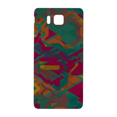 Geometric Shapes In Retro Colors			samsung Galaxy Alpha Hardshell Back Case by LalyLauraFLM