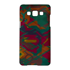 Geometric Shapes In Retro Colorssamsung Galaxy A5 Hardshell Case by LalyLauraFLM