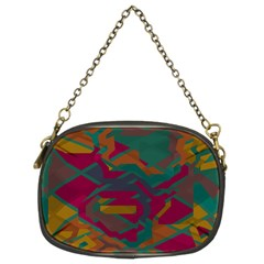 Geometric Shapes In Retro Colors chain Purse (two Sides) by LalyLauraFLM