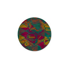 Geometric Shapes In Retro Colors			golf Ball Marker (4 Pack) by LalyLauraFLM