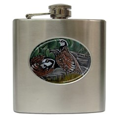Bobwhite Quails Hip Flask (6 Oz) by timelessartoncanvas