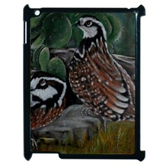 Bobwhite Quails Apple Ipad 2 Case (black) by timelessartoncanvas