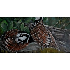 Bobwhite Quails You Are Invited 3d Greeting Card (8x4)  by timelessartoncanvas
