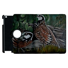 Bobwhite Quails Apple Ipad 2 Flip 360 Case by timelessartoncanvas