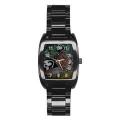 Bobwhite Quails Stainless Steel Barrel Watch by timelessartoncanvas