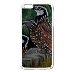 Bobwhite Quails Apple Iphone 6 Plus/6s Plus Enamel White Case by timelessartoncanvas