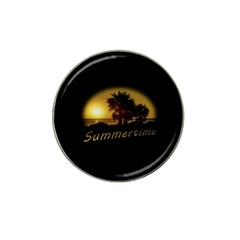 Sunset Scene At The Coast Of Montevideo Uruguay Hat Clip Ball Marker (4 Pack) by dflcprints