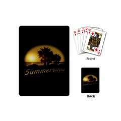 Sunset Scene At The Coast Of Montevideo Uruguay Playing Cards (mini)  by dflcprints