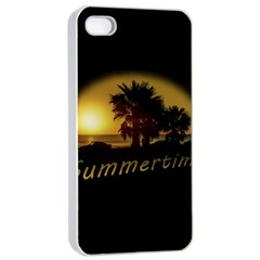 Sunset Scene At The Coast Of Montevideo Uruguay Apple Iphone 4/4s Seamless Case (white) by dflcprints