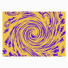Purple And Orange Swirling Design Large Glasses Cloth (2-Side) by JDDesigns