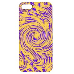 Purple And Orange Swirling Design Apple Iphone 5 Hardshell Case With Stand by JDDesigns