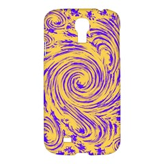 Purple And Orange Swirling Design Samsung Galaxy S4 I9500/i9505 Hardshell Case by JDDesigns