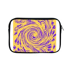 Purple And Orange Swirling Design Apple iPad Mini Zipper Cases by JDDesigns