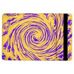 Purple And Orange Swirling Design iPad Air Flip by JDDesigns