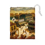 Carson City tiles two sided - Drawstring Pouch (Large)