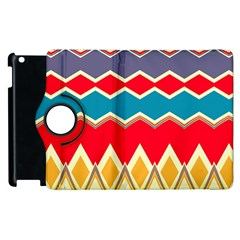 Chevrons And Rhombus			apple Ipad 2 Flip 360 Case by LalyLauraFLM