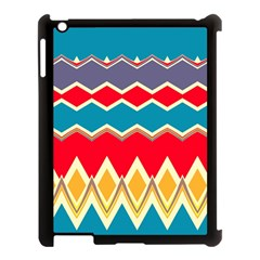 Chevrons And Rhombus			apple Ipad 3/4 Case (black) by LalyLauraFLM
