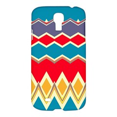 Chevrons And Rhombus			samsung Galaxy S4 I9500/i9505 Hardshell Case by LalyLauraFLM