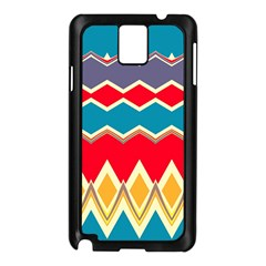 Chevrons And Rhombussamsung Galaxy Note 3 N9005 Case (black) by LalyLauraFLM