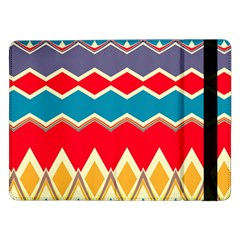 Chevrons And Rhombus			samsung Galaxy Tab Pro 12 2  Flip Case by LalyLauraFLM