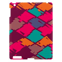 Pieces In Retro Colors			apple Ipad 3/4 Hardshell Case by LalyLauraFLM