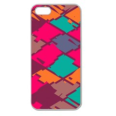 Pieces In Retro Colorsapple Seamless Iphone 5 Case (clear) by LalyLauraFLM