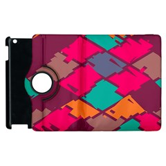 Pieces In Retro Colors			apple Ipad 3/4 Flip 360 Case by LalyLauraFLM