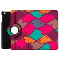 Pieces In Retro Colors			apple Ipad Mini Flip 360 Case by LalyLauraFLM